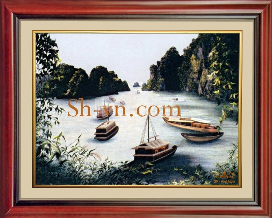 Tranh Thêu Tay 'Vịnh Hạ Long (32)'