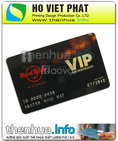 In thẻ nhựa, in thẻ vip, in thẻ nhân viên giá rẻ