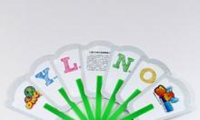 Quạt Nhựa cầm tay Quảng Cáo In Logo theo yêu cầu.