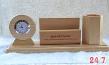 Quà gỗ để bàn Khắc Laser Logo Quý Doanh Nghiệp