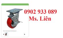 Bánh xe đẩy càng K chất liệu TPU từ 100-200mm