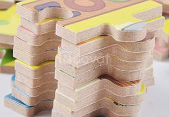 Bộ xếp hình gỗ 100 chi tiết cho bé