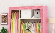 Tủ vải đựng quần áo khung Inox cao cấp - Metal v1