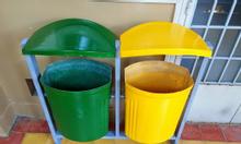 thùng rác nhựa composite treo đôi 50 lít