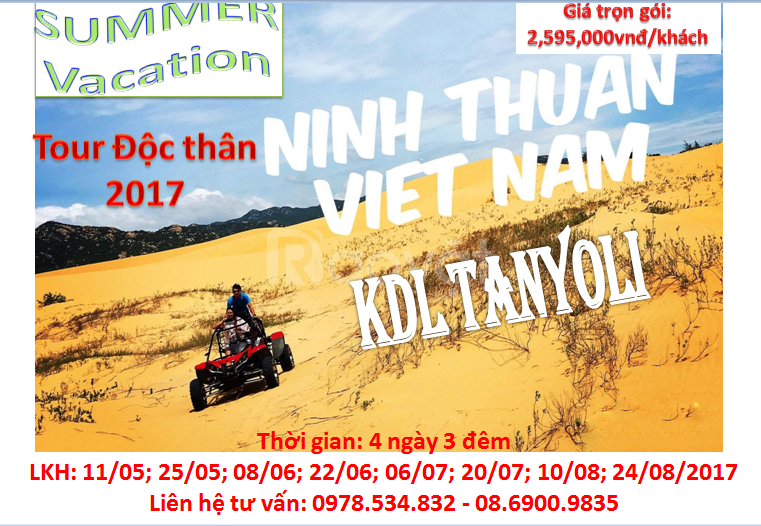 Tour Ninh Chữ dành cho người độc thân