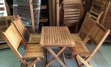 bàn ghế xếp gỗ