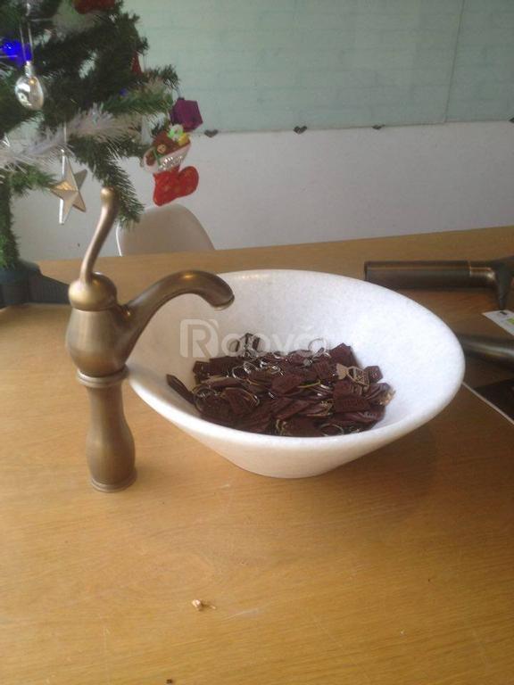Vòi rửa tay bằng đồng nguyên chất