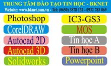 Đào tạo tin học A,B, tin học thiếu nhi, autocad 2d