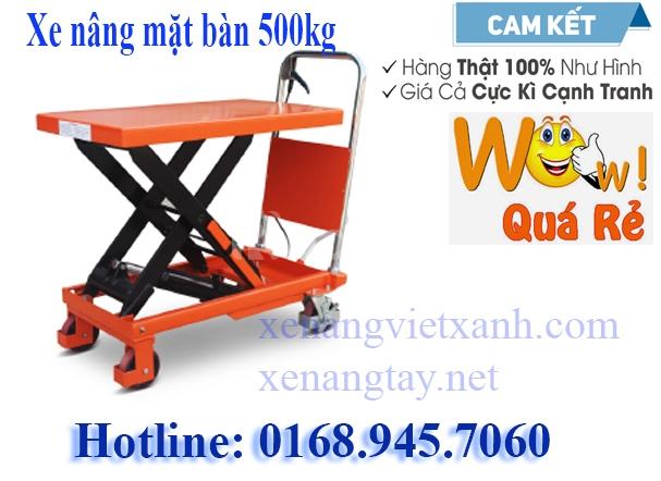 Xe nâng mặt bàn 500kg giá 4.700.000đ