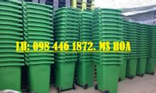 Thùng rác 120,240l,nhựa HDPE, màu xanh, cam