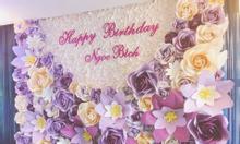 Cho thuê backdrop hoa giấy nghệ thuật