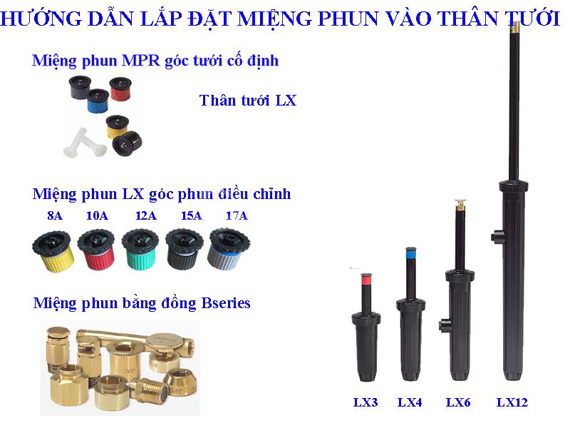 Vòi tưới phun mưa LX3 tại canhquanquocbao.vn