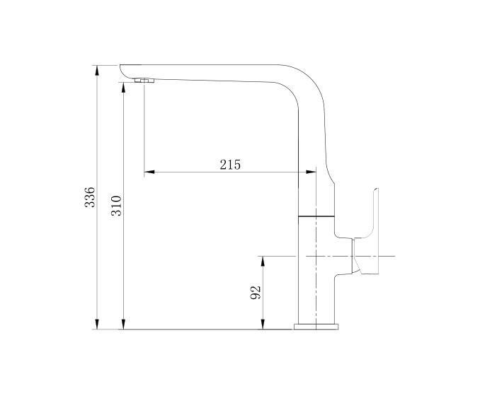 Vòi rửa chén cao cấp nóng lạnh Kelas KRC08