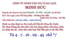 Cho thuê xe 16 chỗ đời mới du lịch Thanh Hóa