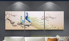 Angiadecor Bán tranh treo tường phù điêu 3d