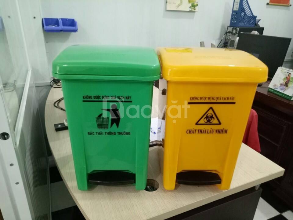 Thùng đựng chất thải lây nhiễm 20l vàng bệnh viện