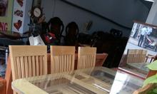Bộ bàn ăn phòng Bếp gỗ Sồi NGA 6 ghe siêu đẹp
