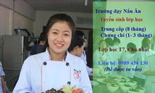 Trường dạy nấu ăn Hà Nội tuyển sinh  học cấp tốc