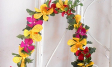 Vòng hoa đeo cổ - vòng nguyệt quế