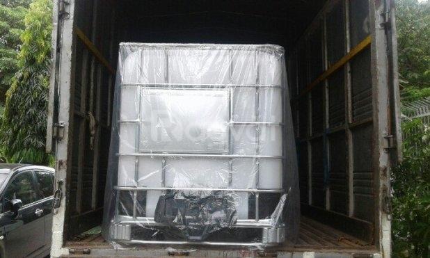 Tank nhựa mới 1000 lít đựng hóa chất dung môi