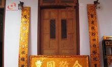 Hoành phi câu đối gỗ sơn son thếp vàng, thếp bạc