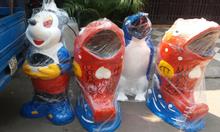 Thùng đựng rác chuột mickey, cá chép, cá heo