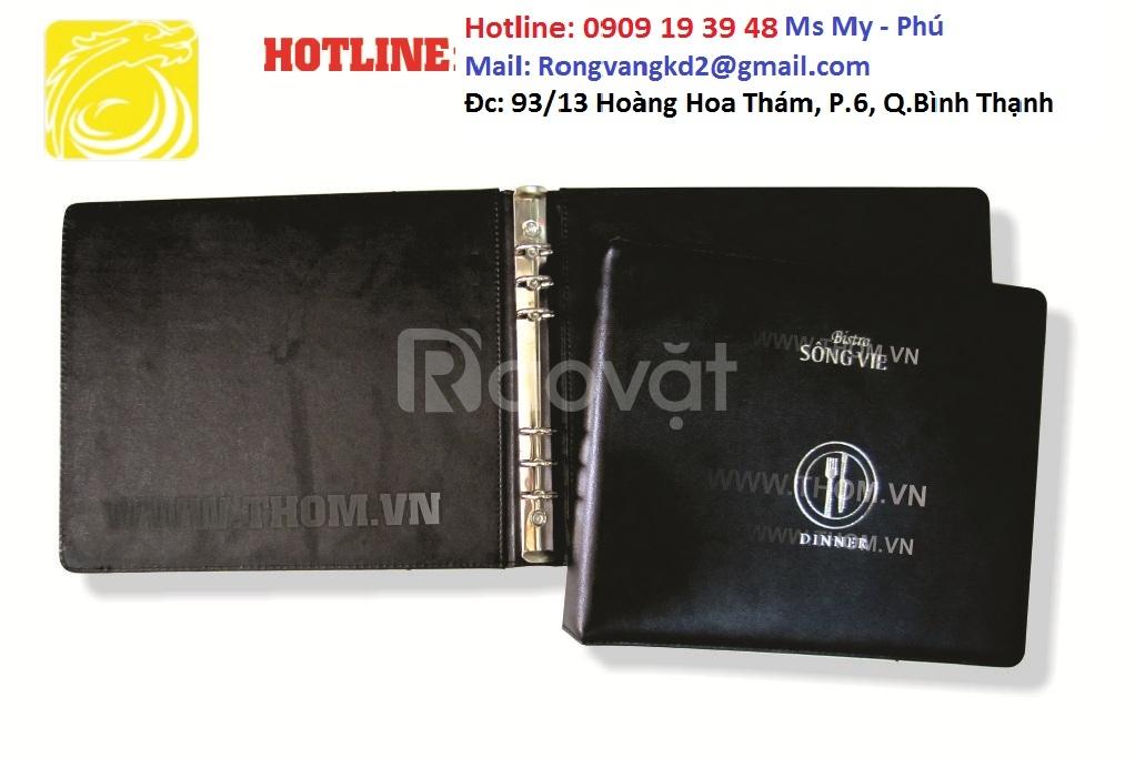 xưởng sản xuất bìa menu, bìa simili.. giá rẻ