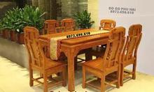 Mẫu bộ bàn ăn đẹp gỗ hương 6 ghế BA93