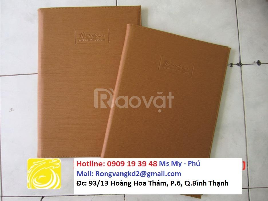 Xưởng sản xuất bìa menu, bìa simili da giá rẻ,...