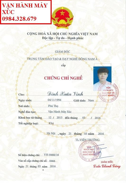 Chứng chỉ lái xe nâng tại Bắc Giang