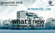 Tính năng mới progeCAD 2018 professional