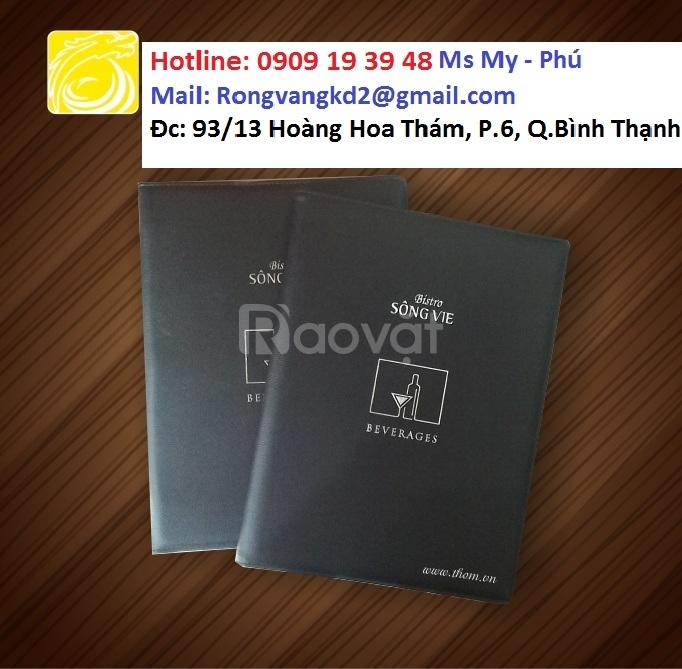 Xưởng sản xuất bìa menu, bìa simili,...