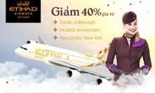 Etihad Airways khuyến mãi giảm 40% giá vé