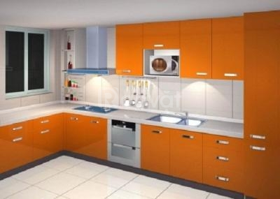 Chuyên thi công tủ bếp nhôm giá rẻ