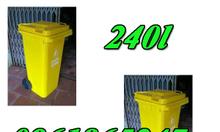Thùng rác 240lit màu vàng của xe nâng giá tốt