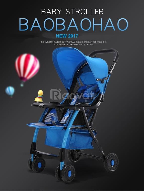 Xe nôi đẩy trẻ em cao cấp Baobaohao New 2017