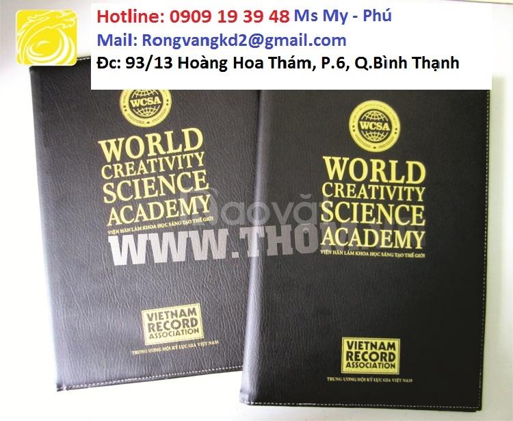 Xưởng sản xuất bìa menu, bìa kẹp hồ sơ