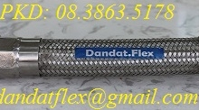 34. ống mềm inox lắp bích, khớp nối mềm inox, lưới 304