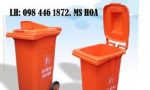 Thùng rác nhựa, composite, thùng rác 2 bánh xe