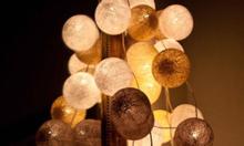 Đèn Cotton - Đèn cuộn len - Đèn trang trí