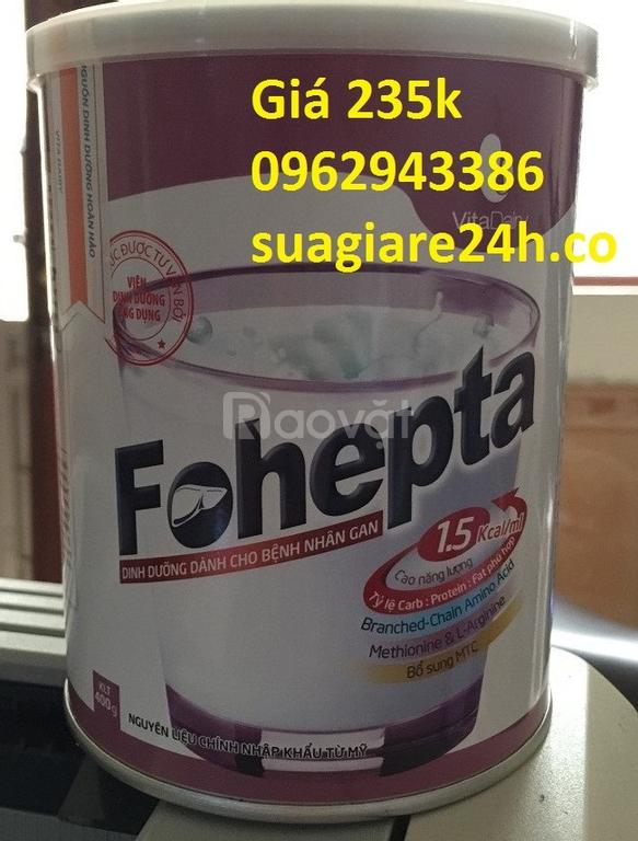 Sữa fohepta giá 235k cho người bênh gan