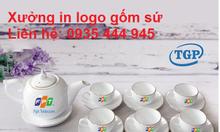 Xưởng in logo bộ ấm trà giá rẻ tại Đà Nẵng