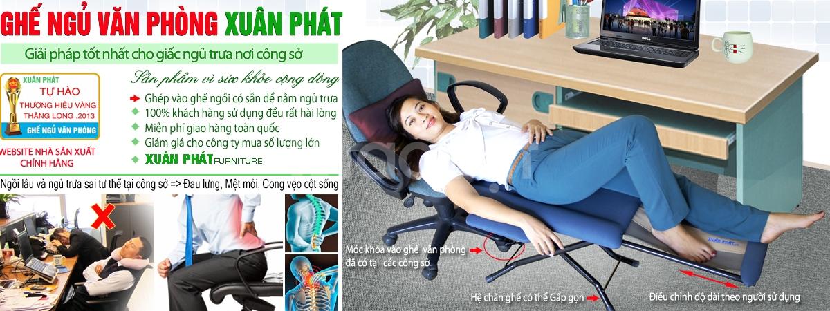 Ghế ngủ trưa văn phòng Xuân Phát