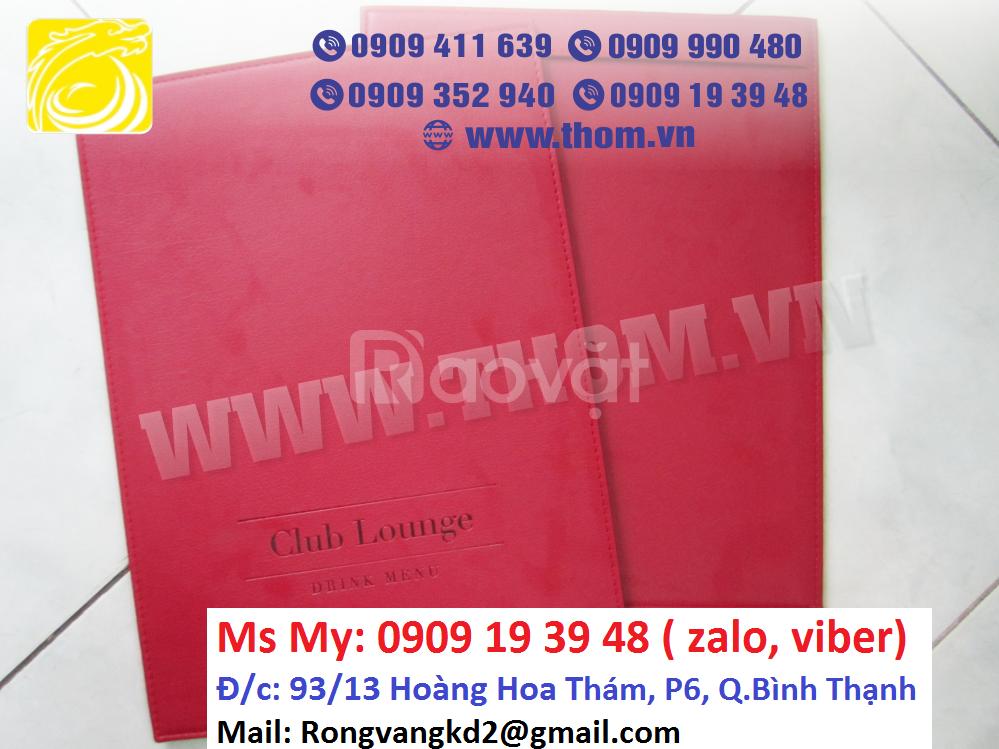 Xưởng sản xuất bìa menu, bìa simili, bìa da giá rẻ