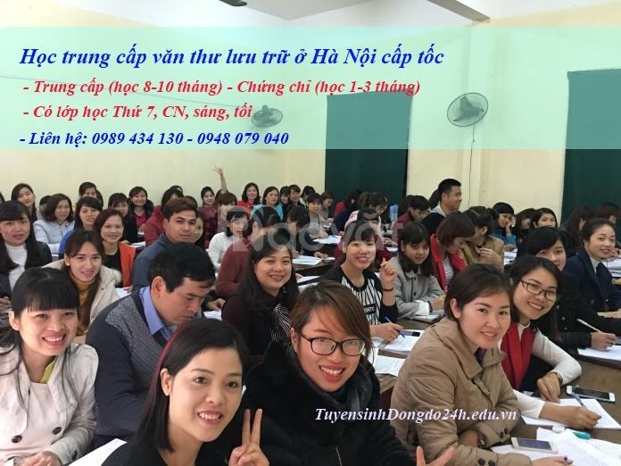 Trường học trung cấp văn thư lưu trữ ở Hà Nội