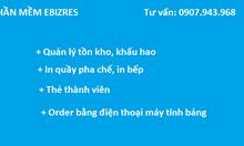 Phần mềm quản lý nhà hàng cafe - EBIZ