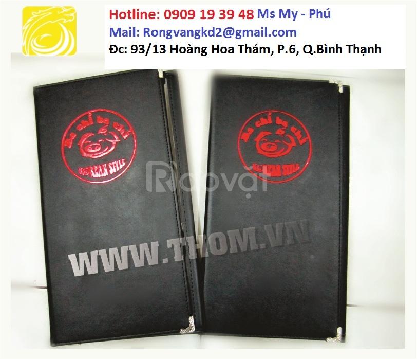 Xưởng sản xuất bìa menu, bìa da giá rẻ ...