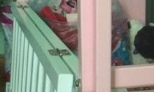 Thanh lý nôi cũi màu hồng rất đẹp còn mới