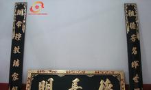 Cuốn thư, cửa võng, hoành phi câu đối gỗ lõi