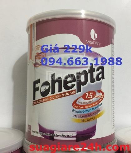 Sữa Fohepta 229.000đ cho người mắc bệnh gan